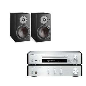 Dali Oberon 3 Regallautsprecher (Paar) + Yamaha MCR-N670D (DAB+, UKW, Internetradio, DLNA, Bluetooth, AirPlay, Spotify Connect, Sub-Out)