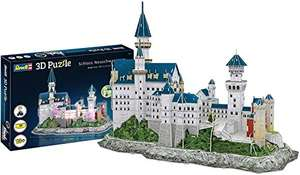 Revell, 3D Puzzle Schloss Neuschwanstein LED Edition, 128 Teile (Prime)