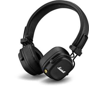 Marshall Major IV Bluetooth-Kopfhörer (On-Ear, geschlossen, BT 5.0, ~80h Akku, USB-C, Qi, Kabel optional, Mikrofon, faltbar, 165g)