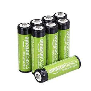 [Prime] Amazon Basics AA-Batterien, wiederaufladbar, vorgeladen, 8 Stück