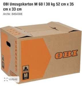 [OBI App] Umzugskartons der Größe M für 1€. Mindestmenge beträgt 20 Kartons.
