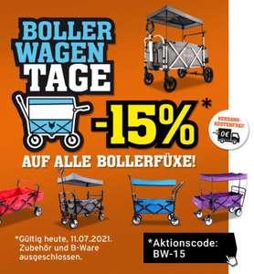15% auf alle Bollerwagen im Online-Shop von Fuxtec