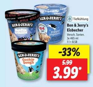 Ben & Jerry's Eiscreme verschiedene Sorten für 3,99€ bei Lidl