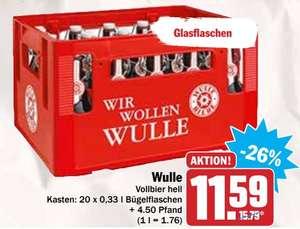 [HIt-Supermarkt] Wulle Kasten (20 x 0,33l Flasche) zum Aktionspreis von 11,59€ zzgl. Pfand