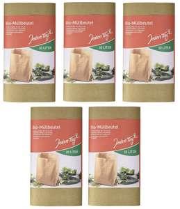 5 x 10 Stück = 50 vollständig kompostierbare Bio-Müllbeutel für 2,60€ (entspricht 5,2 Cent je Stück) - im Sparabo ggf. günstiger [Prime]