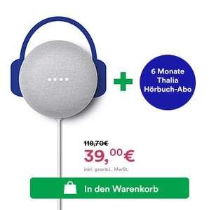 6 Monate Thalia Hörbuch-Abo + Google Nest Mini für 39€ inkl. automatischer Kündigung