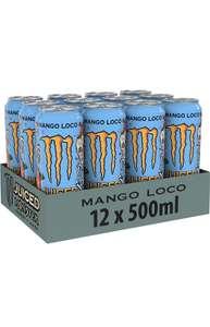 Monster Energy Mango Loco, 12x500 ml, Einweg-Dose, mit tropischen Früchten