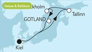 2 Personen TUI CRUISES Last Minute 8 Nächte Blaue Reise - Schwedische Küste 3 (Einzelkabine nur 20% Aufschlag statt 80%)