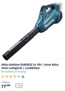 Makita Akku-Gebläse DUB362Z 2x 18V | ohne Akku ohne Ladegerät | Laubbläser