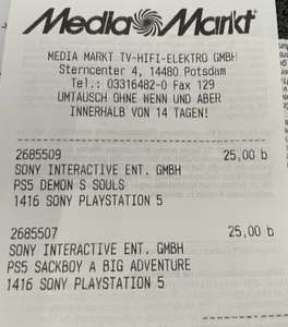 Ps5 Spiele: Demons Souls, Sackboy und andere - MM lokal Potsdam