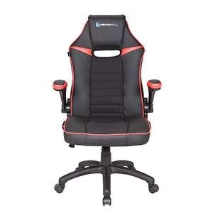 [PRIME] Gaming-Stuhl mit 2,5 D Rückenlehne, gepolsterte, verstellbare Armlehnen, Rückenlehne mit Wippmechanismus