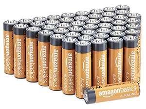 Amazon Basics AA-Alkali-Batterien, leistungsstark, 1,5 V, 48 Stück (8,11€)/Amazon Basics AAA 36 Stück (6,32) SparAbo