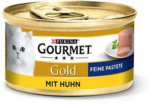 [Amazon Sparabo, Angebot + Coupon] PURINA GOURMET Gold Feine Pastete Katzenfutter nass, verschiedene Sorten, 12er Pack (12 x 85g)