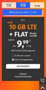 PremiumSim 9,99€ 10 GB Flatrate