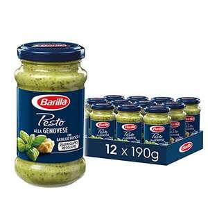 12x190g Barilla Pesto verschiedene Sorten und verschiedene Packs(1,44€ pro möglich) - Prime *Sparabo*
