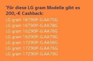 200€ Cashback bei Kauf eines LG Gram 2021 Modell