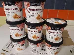 [Lokal - Frostkauf Hohenwarsleben] 8 Stück Haagen Dazs Peanut Butter Crunch MHD Ware