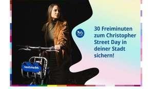 [frelo/nextbike] [lokal Freiburg] Zum CSD 30min kostenlos Fahrrad leihen