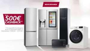 [Cashback] LG Luckydeals bis zu 500€ Cashback auf ausgewählte Kühlschränke | Waschmaschinen | Wäschetrockner | Mikrowellen