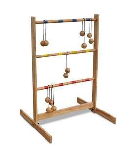 Leitergolf Spin Ladder von Bex, Leiter: 88,5x60x57 cm Streben 57x2,2cm Bälle 4,6cm Bandlänge 30cm aus Hartholz [bol.de]