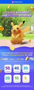 Galaxy Store   Pokémon Go Aktion   Werben von Freunden um einen Rabatt InGame zu erhalten (bis zu 50%) Max. 49,50€ Rabatt möglich