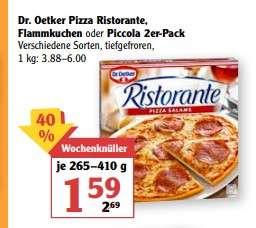 Dr. Oetker Pizza Ristorante, Flammkuchen oder PIccola, 2er-Pack