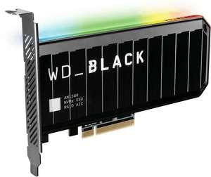 WD_Black AN1500 Interne SSD NVMe (TLC) - 4TB, PCIe 3.0 x8, R6500/W4100, DRAM, RGB (Amazon.es)
