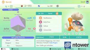 Nintendo Switch | Pokémon Schild & Schwert Kostenlos Qurtel + Goldkronkorken