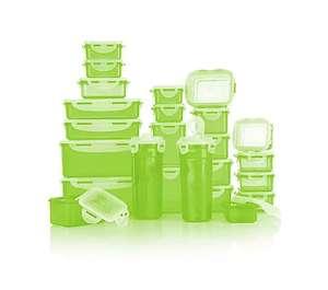 QVC - Tagesangebot - LocknLock 24 × Frischhaltedosen stapelbar 180ml-2,3l