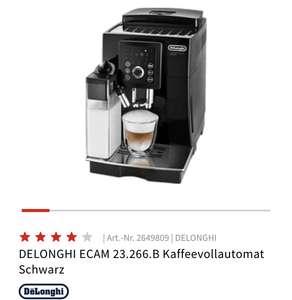 MediaMarkt Kaffeevollautomat Ecam23.266.B DeLonghi 339€|~ 314€ nach Shoop Cashback möglich