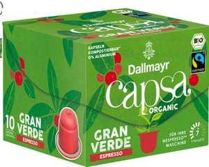 [Rossmann Grüne Preise] 5x Dallmayr Capsa Gran Verde Bio Fairtrade Kapseln mit 0,75€ Gewinn dank Cashback