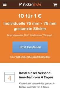 10 Sticker Mule Sticker für 1€