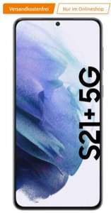 Vodafone Netz: Samsung Galaxy S21+ 5G 8/128GB + Samsung Trio Charger im MD Green LTE 20GB bis 50Mbit/s für 36,99€/Monat, 29€ einmalig