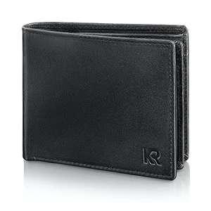 [Amazon prime] KRONIFY Herren Geldbörse, Rindsleder mit RFID-Schutz (TÜV geprüft) in Geschenkbox für 16,99
