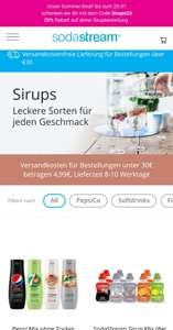 Sodastream Sirups 25% Rabatt [ab 30€ versandkostenfrei]