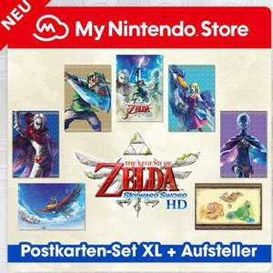 [My Nintendo Store] The Legend of Zelda: Skyward Sword HD-Postkarten-Set XL + Aufsteller für 400 Platinpunkte + 3,99€ Versand