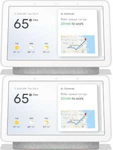 "2x Google Nest Hub 2. Generation (7"", 1024x600, Touch, Dualband-WLAN, Bluetooth 5.0, Google Assistant, Schlafsensor, 177.4x120.4x69.5mm)"