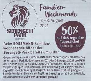[Serengeti Park Hodenhagen] 50% Rabatt am 07. und 08. August 2021 - Das Rossmann Familien-Wochenende