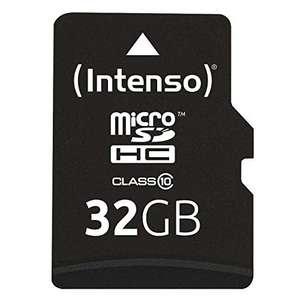 [Amazon Prime] Intenso Micro SDHC 32GB Class 10 (inkl. SD-Adapter)