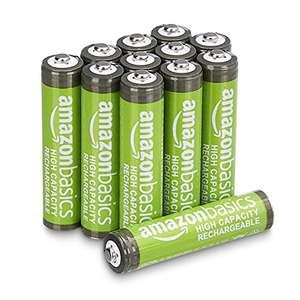 [Prime] All Time Bestpreis - Amazon Basics AAA-Batterien mit hoher Kapazität, wiederaufladbar, 850 mAh, 12 Stück, vorgeladen