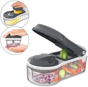 MAXXMEE Chop'n Slice Plus Allesschneider 12-tlg. zum Hobeln, Würfeln und Häckseln von Obst, Gemüse und Kräutern