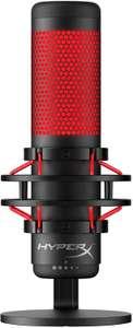 HyperX QuadCast - Standalone Kondensator-Mikrofon (Lautstärkeregler, Mute-Switch, Wahlschalter für 4 Richtcharakteristiken, 20 - 20.000 Hz)