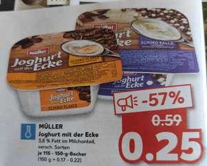 Joghurt mit der Ecke - verschiedene Sorten - Müller [Kaufland offline bundesweit?]