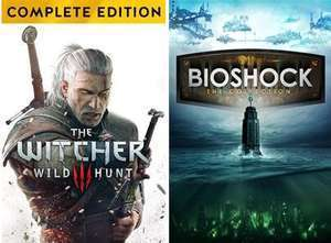 The Witcher 3: Wild Hunt Standard - 5,99€ / Game of the Year Edition - 9,99€ oder BioShock: The Collection [Xbox One & Series]