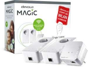 devolo Magic 1 WiFi Multimedia Power Kit (2x Magic 1 LAN-Adapter mit Gigabit-LAN & 1x Magic 1 WiFi Mini mit 100Mbit/s-LAN & 2.4GHz-WLAN)
