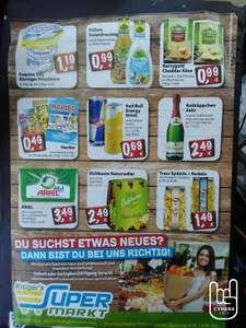 Krügers Supermarkt, diese Woche Milka bis 100gr. 49 Ct, RedBull69Ct, Haribo 49Ct, Rotkäppchen Sekt 0 75Ltr 2,49