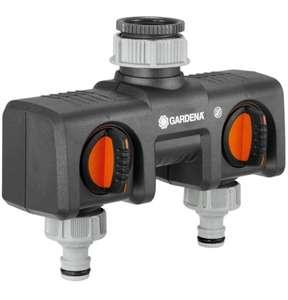 Gardena 2-Wege-Verteiler Anschlussmöglichkeit für 2 Gardena Bewässerungscomtputern/Uhren 8193-20 (Prime)