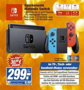 [Regional HEM-Expert ab 28.07] Nintendo Switch neon-rot/neon-blau für 299,-€
