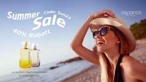 Asperias Summer Sale 40% Rabatt
