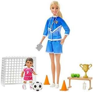 Barbie GLM47 - Fußballtrainerin Spielset mit Puppe (blond) und Zubehör, ab 3 Jahren [Amazon Prime]